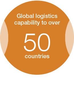 Global logistics capability to over countries